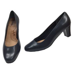 ROS HOMMERSON Leather Classic Pumps Shoes Navy